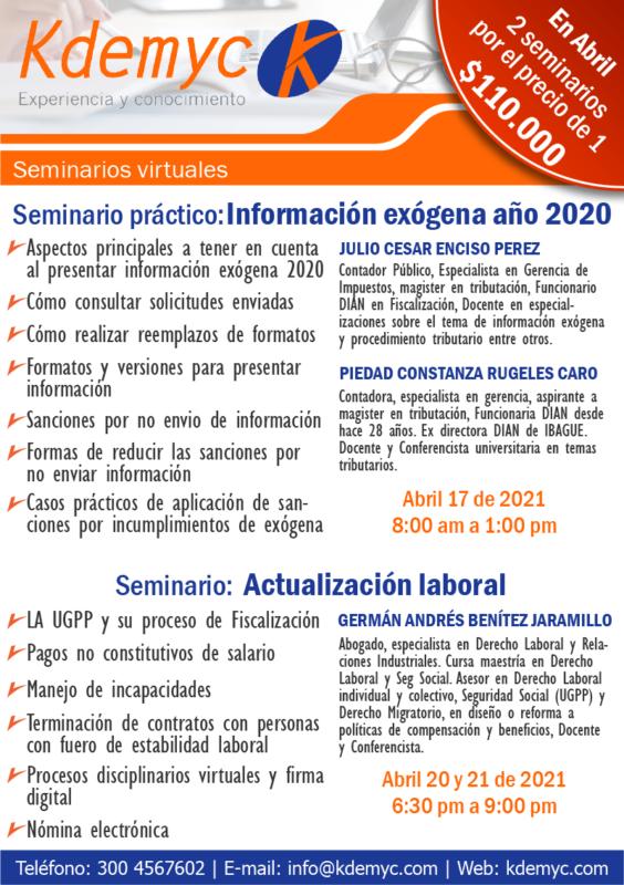 Seminarios abril 2021